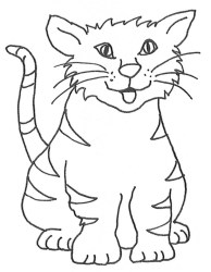 cat clipart clip kitten drawings sketches graphics colouring pages cute library sketch happy tongue cliparts gclipart kitty sketching cartoon clipartqueen