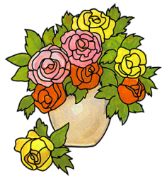 vase flowers clipart flower clip drawing rose roses drawings cliparts vases yellow designs pink library clipartqueen