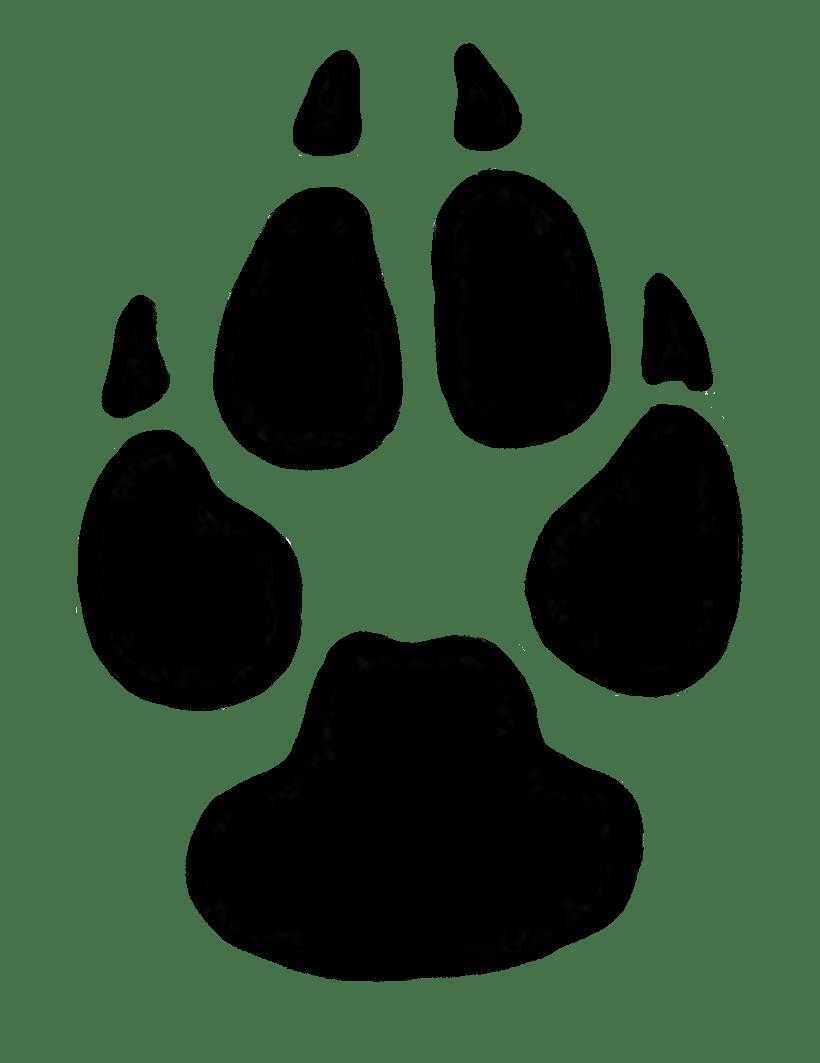 Lion Paw Print Clip Art : print, Prints, Clipart