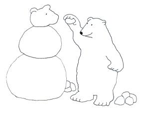 polar bear clip bears clipart snowbear snowman making clipartqueen