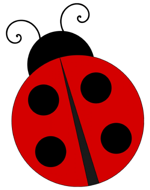 ladybug drawing simple clipart cut