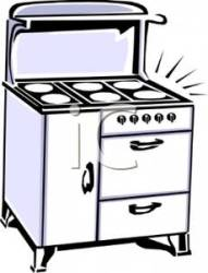 stove clipart oven kitchen clip cleaning retro gas royalty stovetop cooking appliances enamel haitian side 1255 1617 pages turn