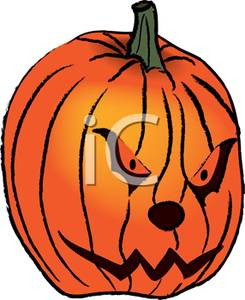 angry jack-lantern - clipart
