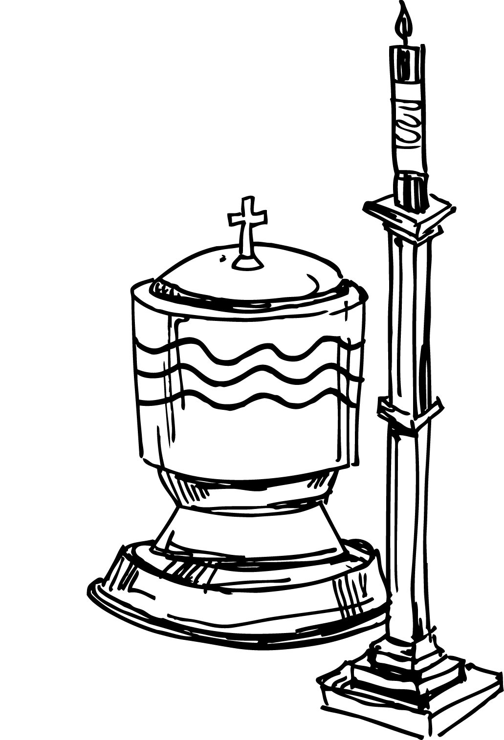 Baptism Cross Clip Art