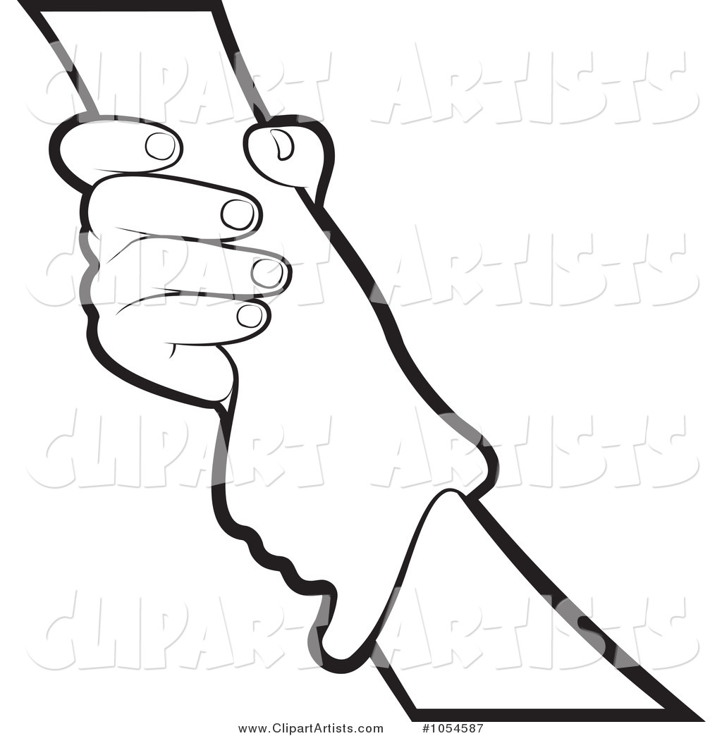 Helping Hands Clip Art Sketch Coloring Page