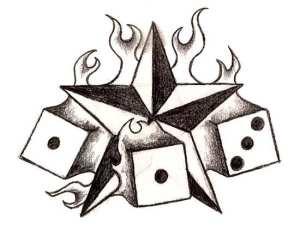 cool draw cliparts easy tattoos designs tattoo drawings simple dice star flaming flame fire heart