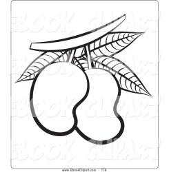 Mango Clipart Black And White Cliparts co