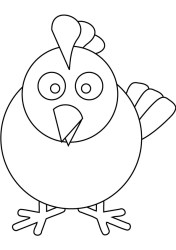 Cartoon Chicken Coloring Pages Chicken Cartoon