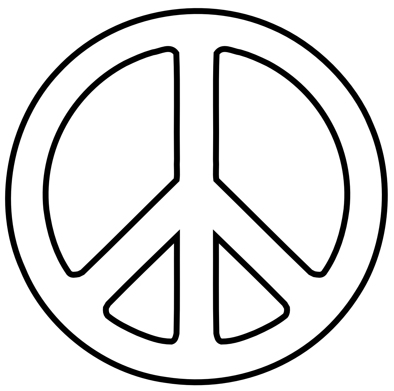 clip art peace signs
