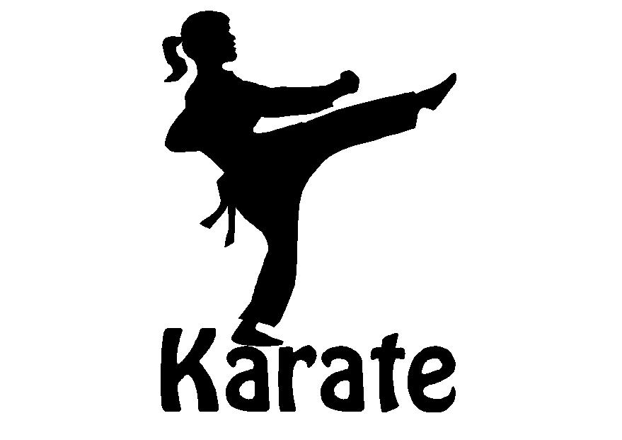 Karate Girl Svg