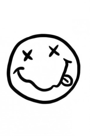 logos draw nirvana easy smiley drawings band bands cliparts app face transparent doodle android