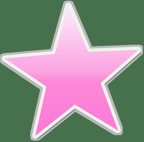pink stars clipart &