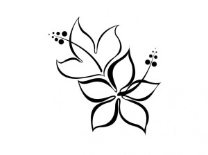 lotus flower drawing line cliparts simple drawings easy tattoo tattoos butterfly