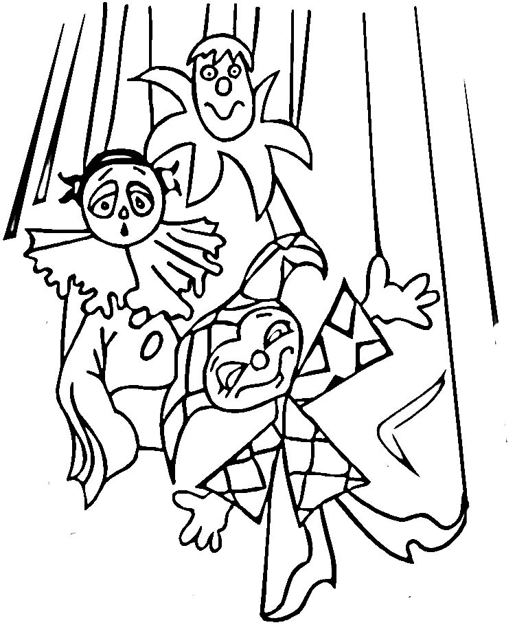 Puppet Colouring Pages Page 3 Sketch Coloring Page