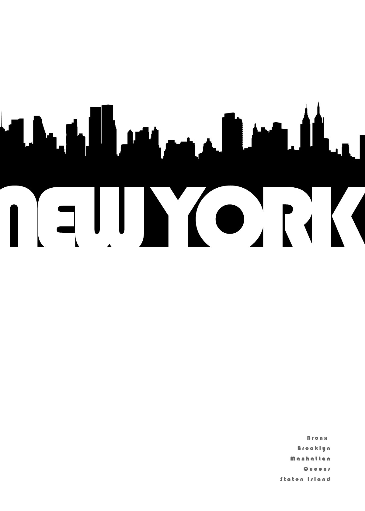 New York City Skyline Outline