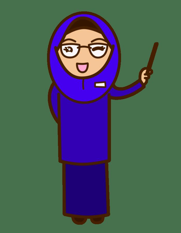 Animasi Guru Gif : animasi, HANIMOFA:, Time:, Muslimah, Teacher, Cliparts.co