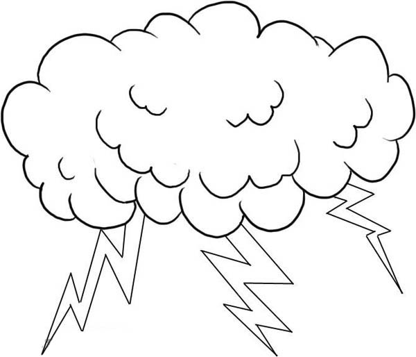 Free cloud drawing coloring pages