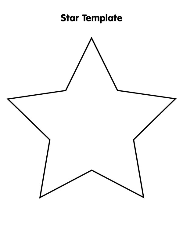 star outline printable