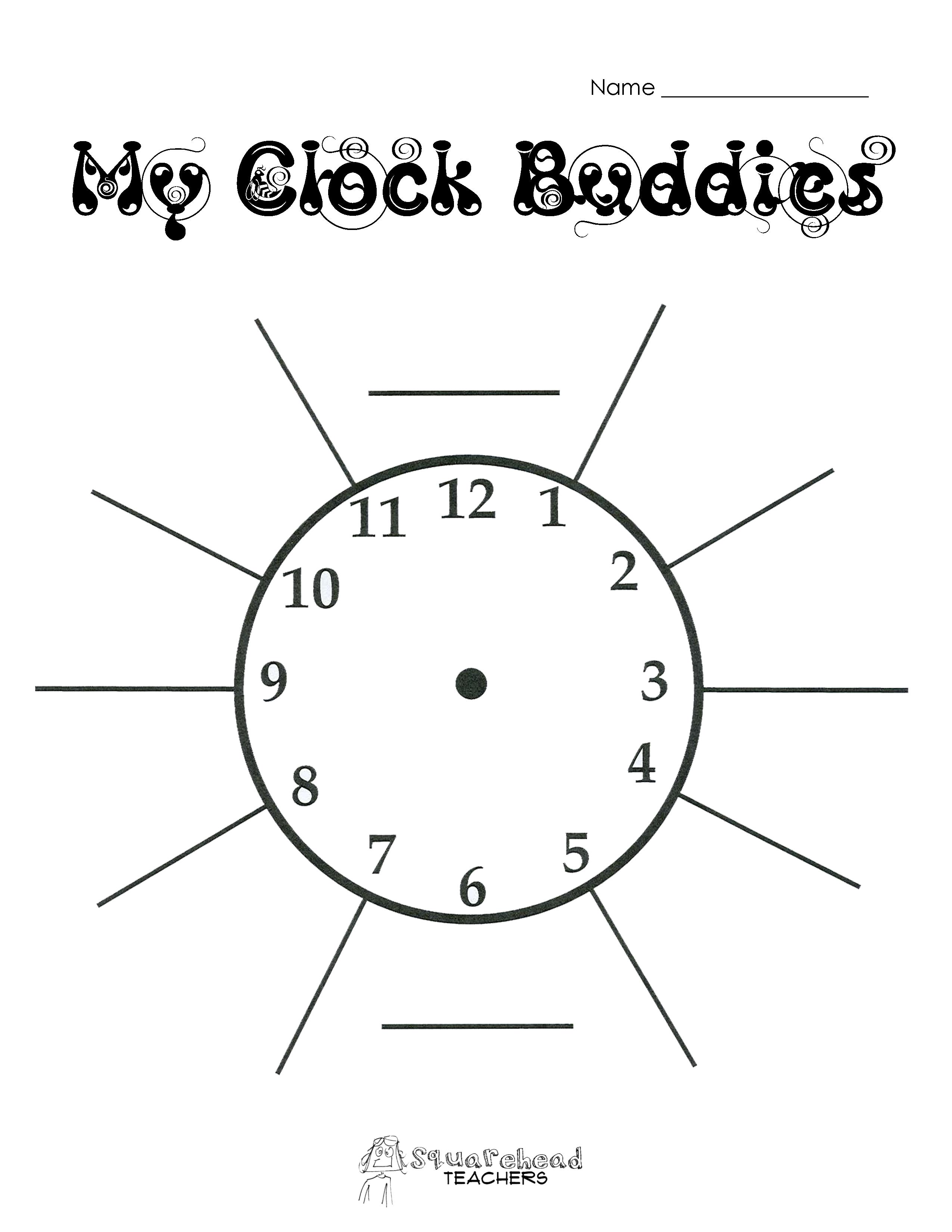 Free Clock Bud S Template Printable
