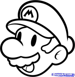 easy drawings cool cliparts draw characters mario