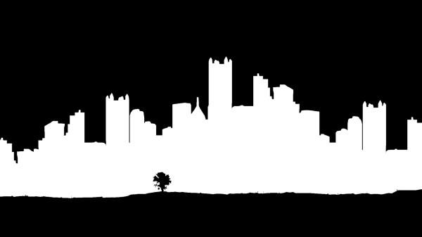 Philadelphia Skyline Outline Drawing