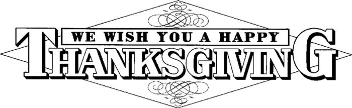 Black And White Thanksgiving Clip Art Cliparts Co