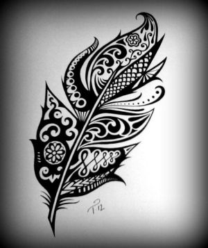 drawing feather tribal henna ink drawings custom intricate tattoo artwork paper commissioned tattoos designs detailed maybe clipart boys cliparts randy