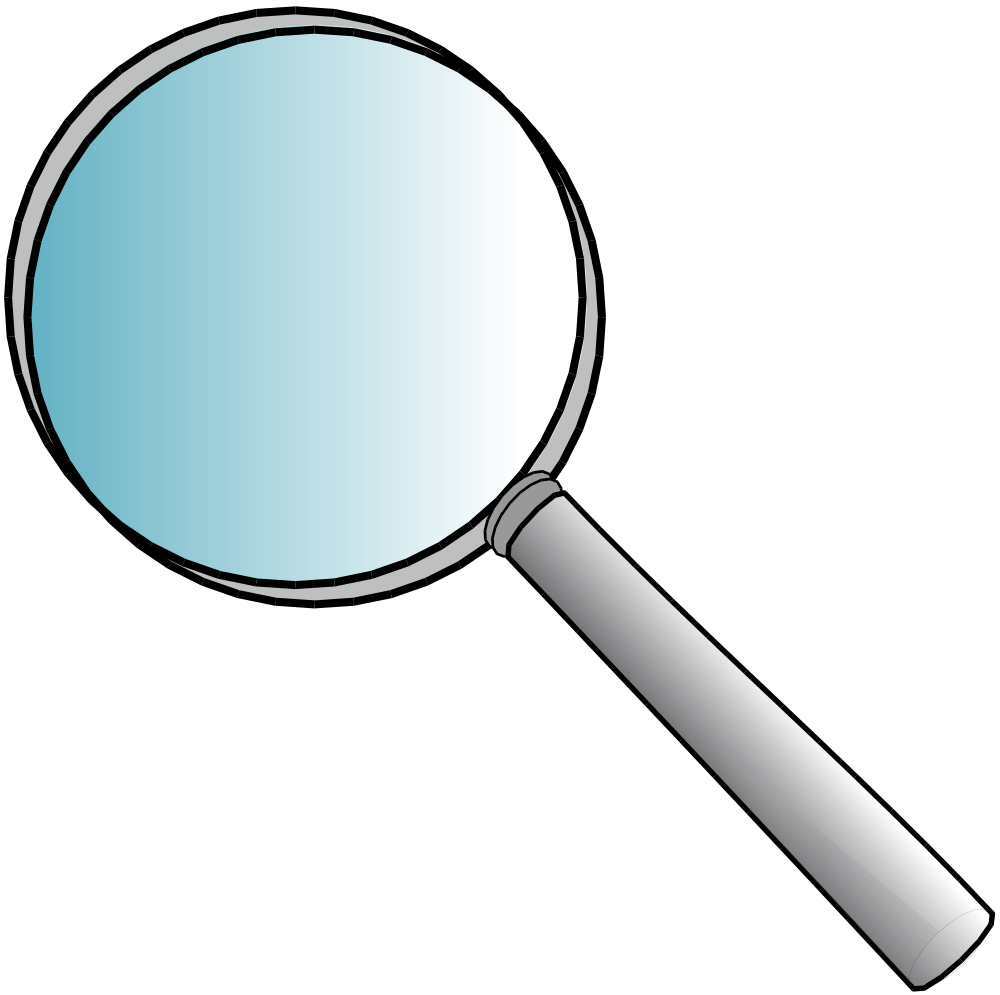 hight resolution of looking magnifying glass clipart 1