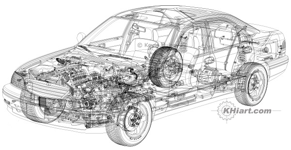 Car Engines Drawings Designs, Car, Free Engine Image For