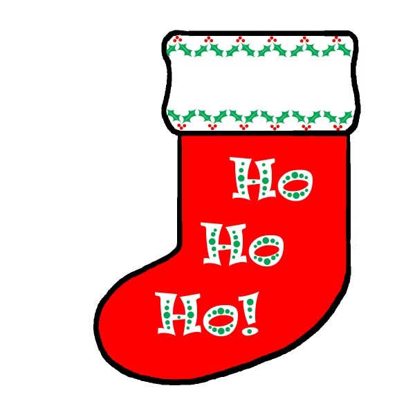 Christmas Stocking Clip Art to Color
