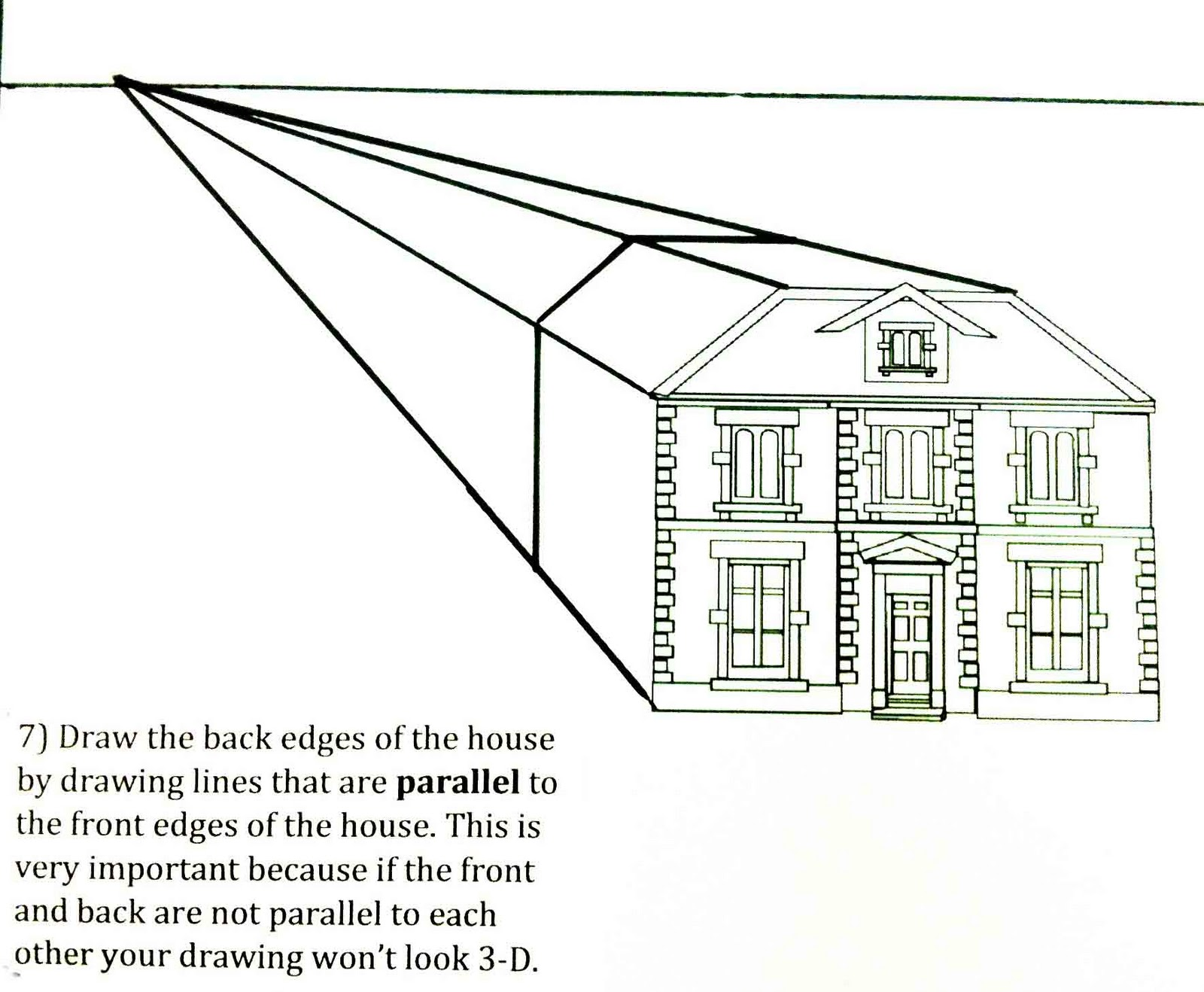 Chinese House Drawing Step By Step
