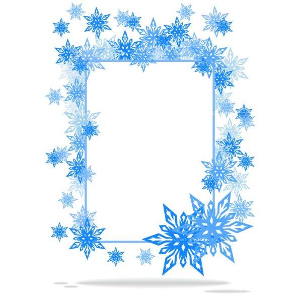 snowflake border template free