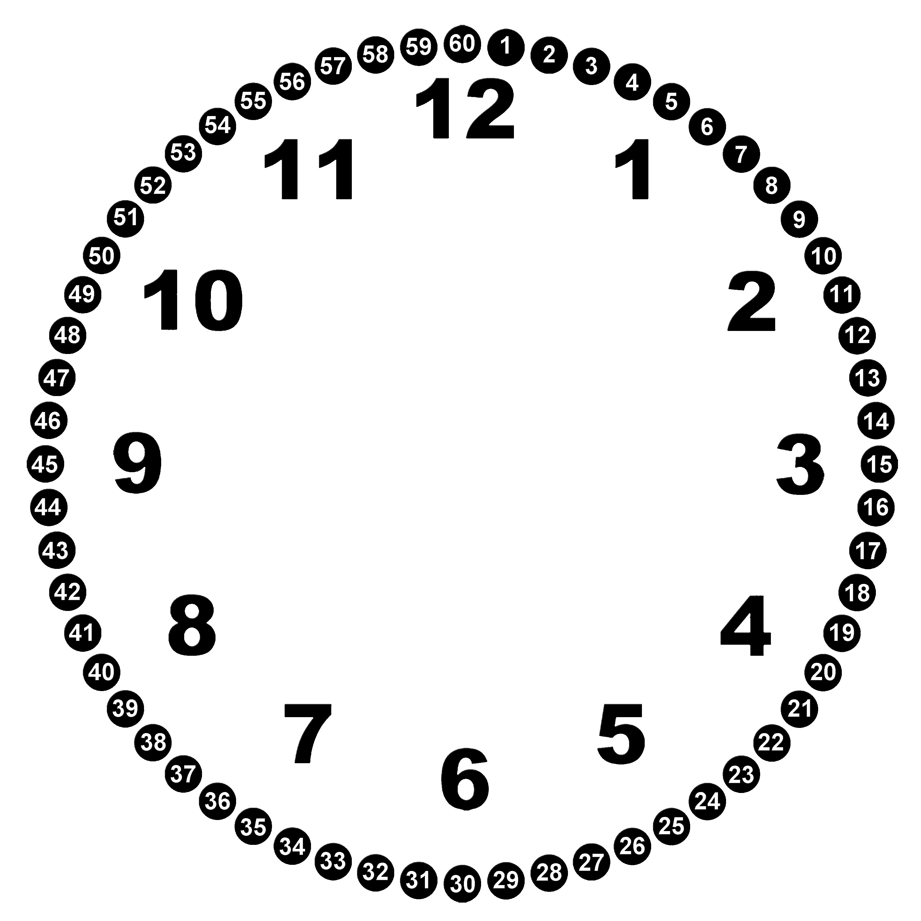 Blank Clock Face Printable