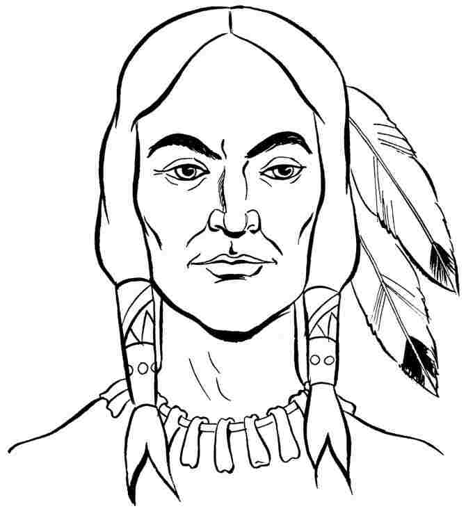 Coloring Sheets Thanksgiving Indian Printable For Girls