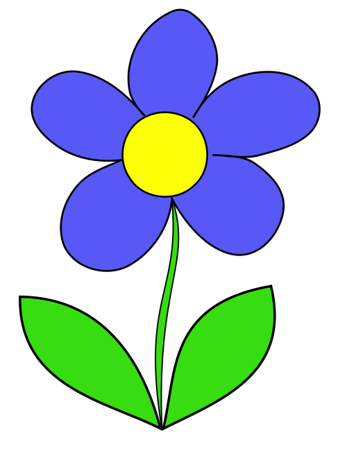 small resolution of flowers for simple flower outline
