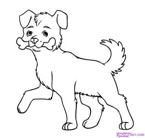 dog drawing cliparts face easy