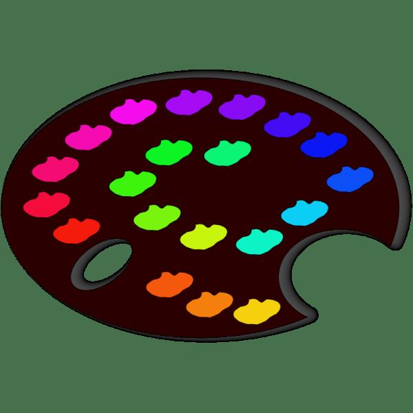 Clip Art Artist Palette