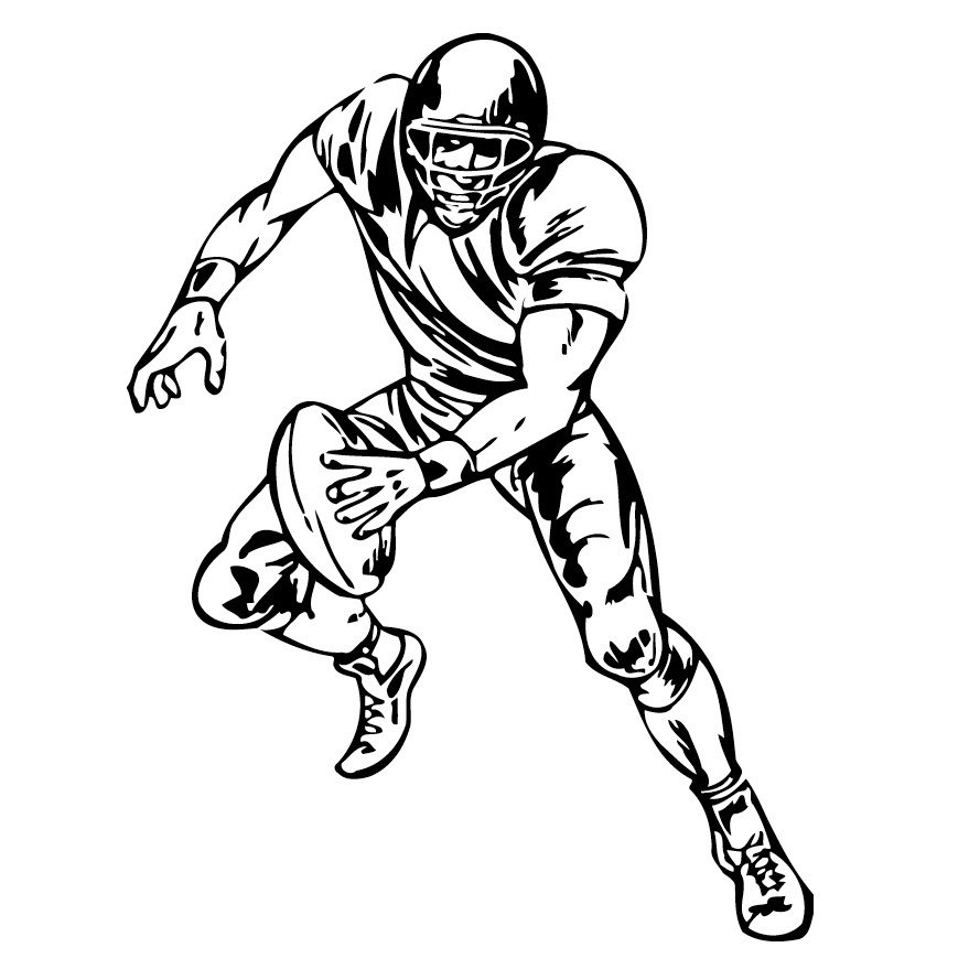Pencil Of Football Players Coloring Pages