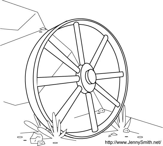 Wagon Wheel Coloring Pages