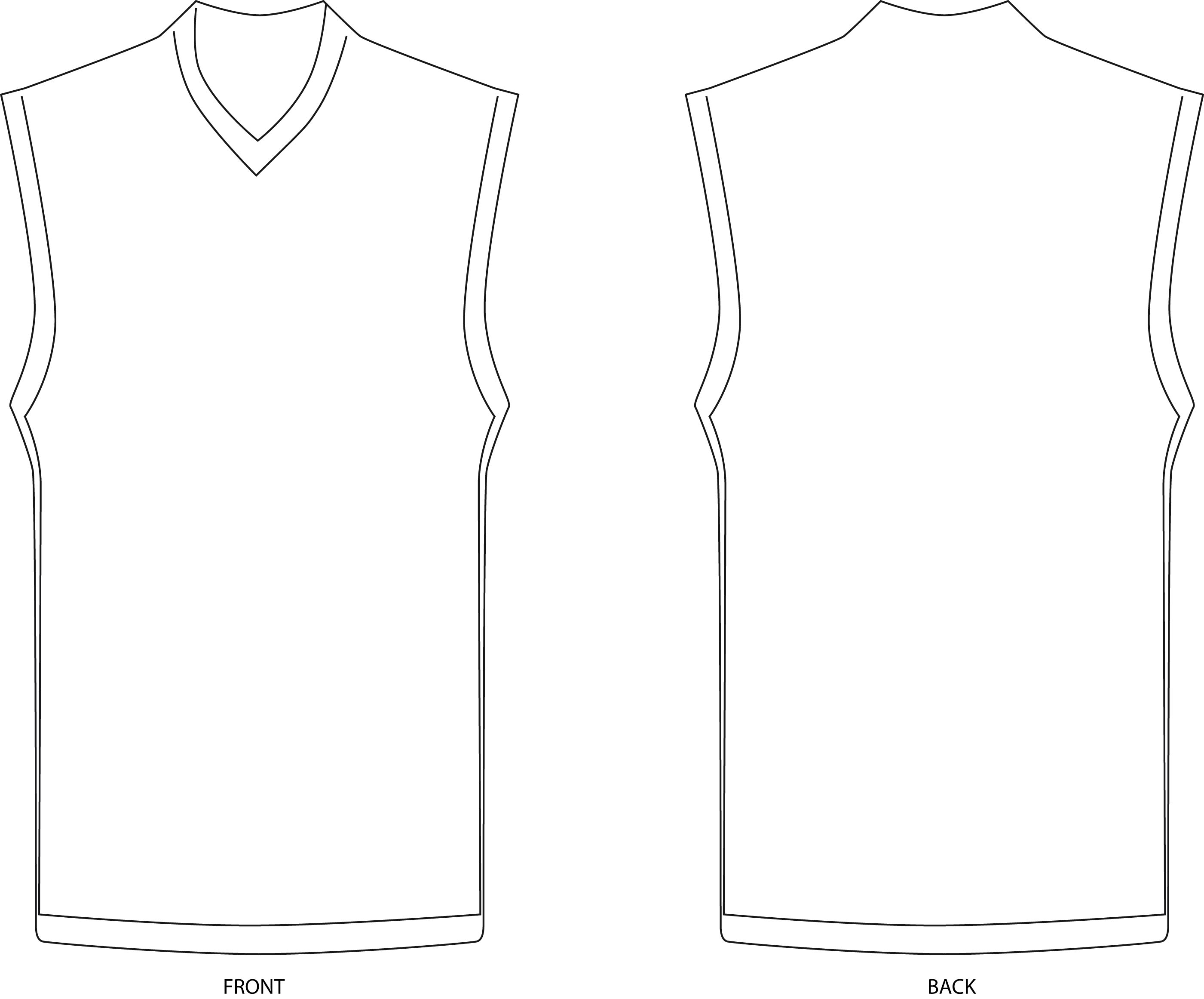 Basketball Jersey Coloring Page Coloring Pages