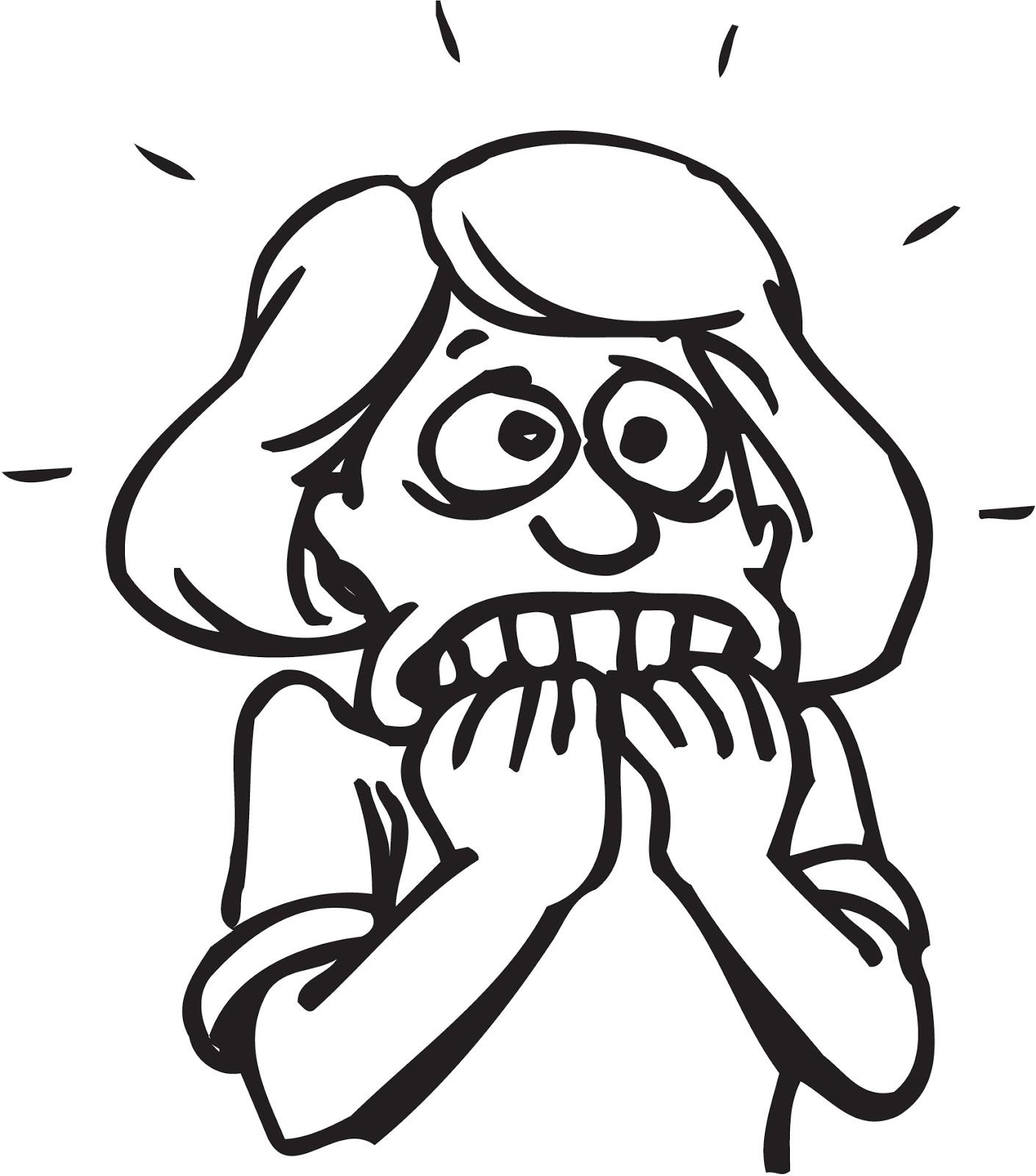 Scared Cartoon Girl