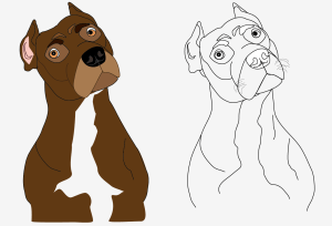drawings easy cliparts drawing dogs line