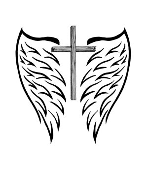crosses cross drawing cool easy tattoo wings drawings designs draw cliparts clipart drawn painting clip simple fun deviantart forget getdrawings