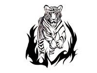 Free Designs - Bengal Tiger Tattoo Wallpaper - Cliparts.co
