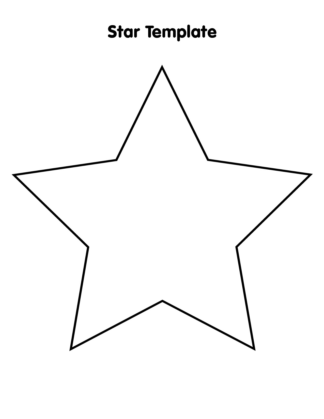 Large Star Template Printable