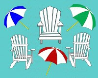 Beach Chair Art - Cliparts.co