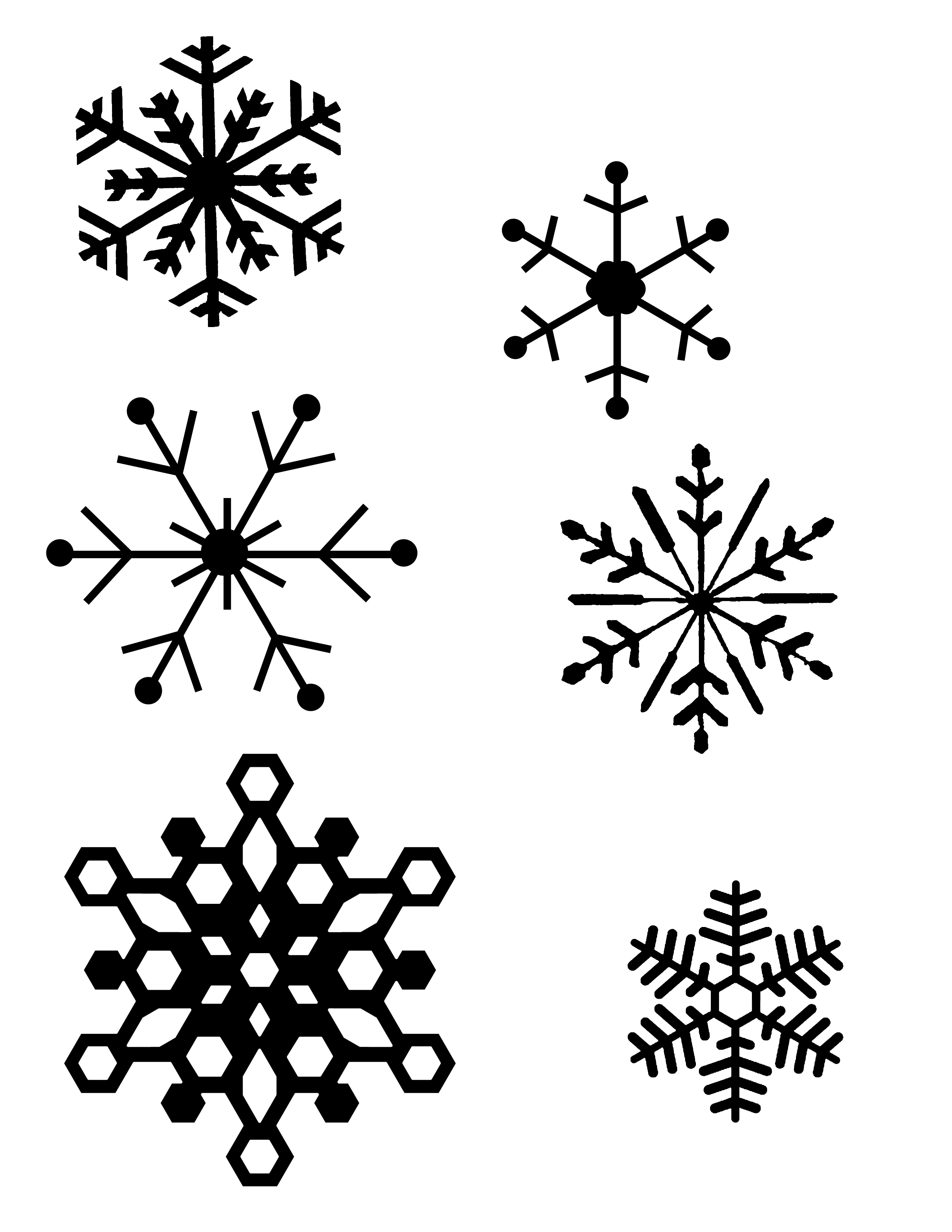 Snowflake Line Art