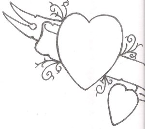 heart tattoo hearts designs drawing simple tattoos drawings banner broken banners cliparts draw getdrawings library clipart cool horseshoe template attribution