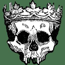 crown dead king clipart vector grateful clip cliparts skull transparent simple illustration vectors library domain