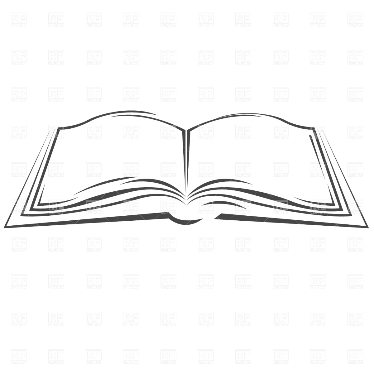 Open Book Clipart Black And White